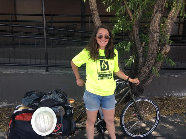 Jessica Gibbons of Utah Conservation Corps Bike Crew