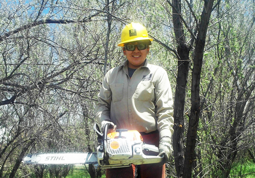 Radeanna Comb of Southwest Conservation Corps